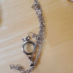 Origami owl lanyard charm holder and chain